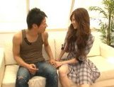 Ameri Ichinose Asian model gets fingered in her hairy pussy