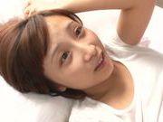 Naughty Asian babe Ayumi Kimino gets her kitty drilled