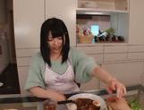 Sexy housewife Ai Uehara enjoys hardcore bang in the kitchen picture 12
