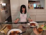 Sexy housewife Ai Uehara enjoys hardcore bang in the kitchen picture 13