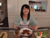 Sexy housewife Ai Uehara enjoys hardcore bang in the kitchen picture 5
