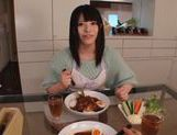 Sexy housewife Ai Uehara enjoys hardcore bang in the kitchen picture 7