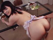 Sexy housewife Ai Uehara enjoys hardcore bang in the kitchenasian ass, young asian}