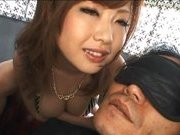 Rio Hamasaki Hot Asian doll enjoys her folded friend