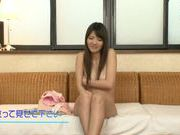 Savory Japanese solo girl Anna Ousaka curves for a cam