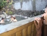 Steamy Japanese female college students seduce a guy in a pool picture 12