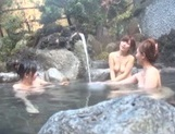 Steamy Japanese female college students seduce a guy in a pool picture 14
