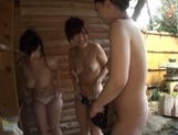 Steamy Japanese female college students seduce a guy in a pool picture 9