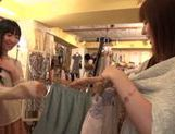 Kinky Asian teen Shunka Ayami fingers pussy of girlfriend picture 11