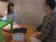 Hottie with big breasts Chigusa Hara enjoys rear bang