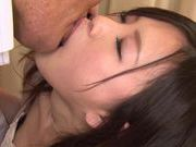 Hot and horny Japanese AV model fondles her sexy body