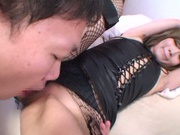 Long-haired princess Miku Hasegawa in rabbit suit has deep fucking