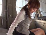 Kinky Japanese milf Rin Misuzu enjoys hot sex in a car picture 12