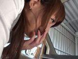 Kinky Japanese milf Rin Misuzu enjoys hot sex in a car picture 14