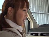 Kinky Japanese milf Rin Misuzu enjoys hot sex in a car picture 2