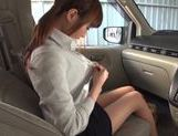Kinky Japanese milf Rin Misuzu enjoys hot sex in a car picture 7
