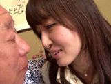 Sweet asian babe Yui Igawa gets pounded by old guy picture 12