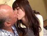 Sweet asian babe Yui Igawa gets pounded by old guy picture 13