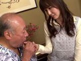 Sweet asian babe Yui Igawa gets pounded by old guy picture 14