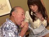 Sweet asian babe Yui Igawa gets pounded by old guy picture 15