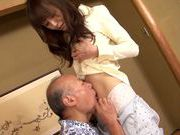 Sweet asian babe Yui Igawa gets pounded by old guyhorny asian, hot asian pussy}