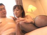 Bang-up cutie in sexy stockings Kokone Mizutani rides cock