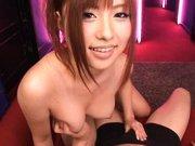 Kokomi Naruse Asian babe sucks a huge cock