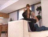 Akiho Yoshizawa Naughty Asian housewife enjoys being fucked from behind