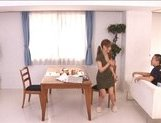 Akiho Yoshizawa Naughty Asian housewife enjoys being fucked from behind picture 13