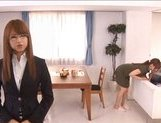 Akiho Yoshizawa Naughty Asian housewife enjoys being fucked from behind