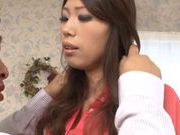 Kinky ass Yuu Asou hot Asian doll shows off her hairy wet pussy