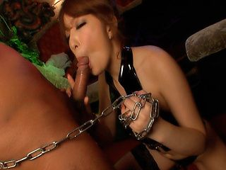 Beautiful Asian milf Aiko Nagai licks her lover´s anal and sucks cock