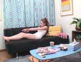 Cute Japanese AV model relaxes arranging solo action picture 1