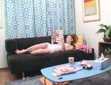 Cute Japanese AV model relaxes arranging solo action