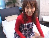 Japanese AV model gives a hot blowjob picture 11