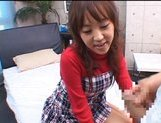 Japanese AV model gives a hot blowjob picture 12