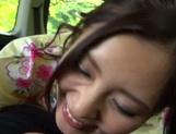 Hot Asian milf Rin Sakuragi having a great fuck in the car picture 14
