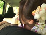 Hot Asian milf Rin Sakuragi having a great fuck in the car