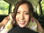 Hot Asian milf Rin Sakuragi having a great fuck in the car
