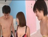 Yuma Asami Asian model enjoys a wild orgy picture 5