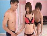 Yuma Asami Asian model enjoys a wild orgy