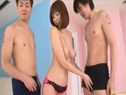 Yuma Asami Asian model enjoys a wild orgy