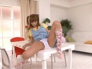 Kirara Asuka Asian doll is enjoying masturbation