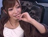 Horny milf Satou Haruka likes it in threes picture 12