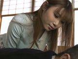 Lustful Japanese babe Hanomi Uehara enjoys stiff cock picture 11