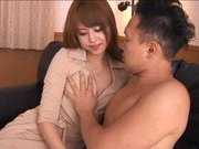 Akhio Yoshizawa Asian doll in sexy black lingerie gets fucked