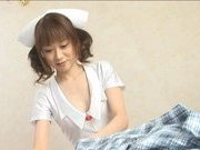 Japanese AV model is a sexy nurse who enjoys a hard fucking