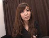 Cute Japanese lady makes a footjob and handjob and gets banged
