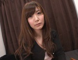 Cute Japanese lady makes a footjob and handjob and gets banged picture 12
