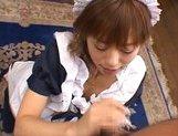 Hitomi Hayasaka lovely Japanese doll in bukkake picture 11